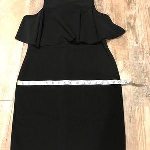 Zara Dresses - Zara black sleeveless ruffle dress M